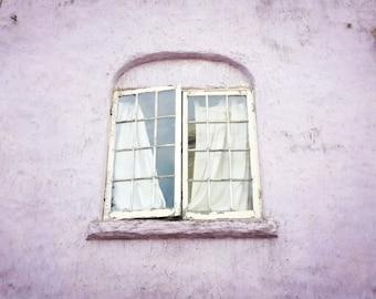 "San Francisco art - window print - architecture art - pastel pale purple decor - bedroom wall art - old window  ""Lilac Window"""