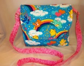 Care bear Rainbow SALE 16% off messenger cross body handbag tote for all ages adjustable strap available Designs by Keri