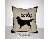GOLDEN RETRIEVER Personalized Pillow - One of a Kind, Handmade,Customized - 4 Designs Available