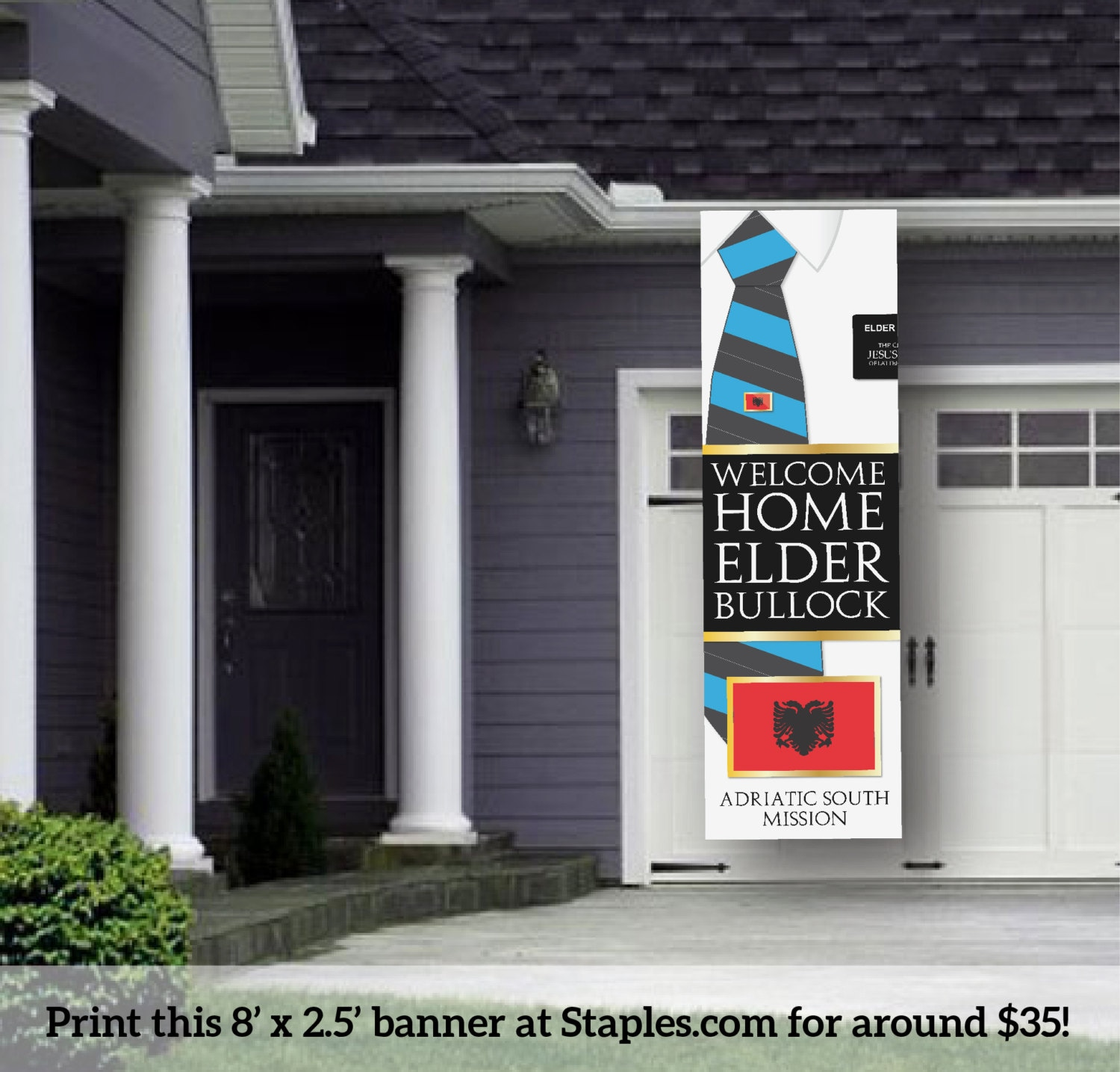 digital banner giant lds missionary welcome home by meckmom