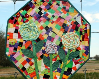 Jelly Beans and Lollipops Quilted Art Wall Hanging - Heirloom