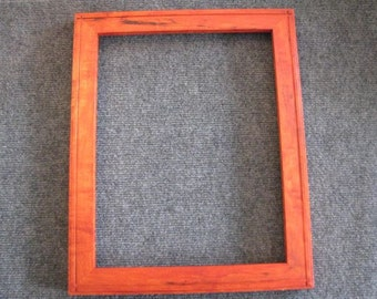 11x14 Spalted Maple with Light Curl and Orange Dye Picture Frame