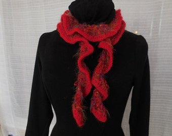 Red Softer than Soft Spiral Knit Scarf