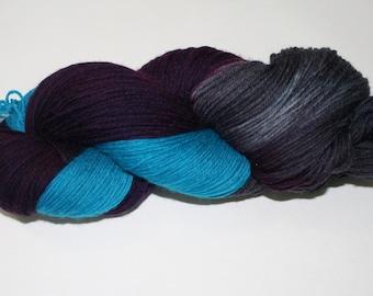 Stormy Sky Hand Dyed Sock Yarn