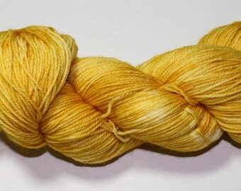 Gold Hand Dyed Sock Yarn