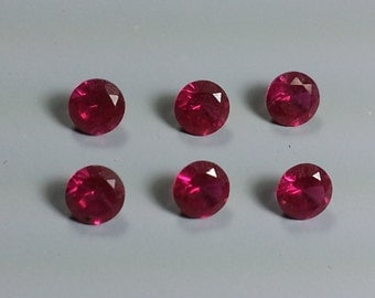 5mm Bright Red Cubic Zirconia Stones...Sparkling and Beautiful at a Bargain Price