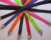 Solid Color Fabric Lanyards 1/2 inch or 3/4 inch with or without safety breakaway option teacher lanyard teacher gift student lanyard