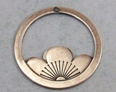 Floating Lotus Pendant, Antique Silver, Trinity Brass AS297