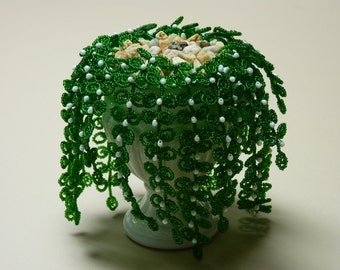 French Beaded Baby Tears Plant in Mini Urn (FREE SHIPPING)