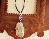 SALE, Ocean Jasper & Norwegian Silver Necklace