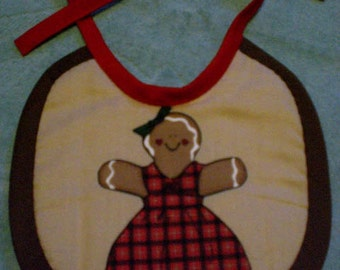 Baby Bib Gingerbread Woman