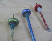Woolpops Small Bottom Whorl Glitter Drop Spindle Decoration