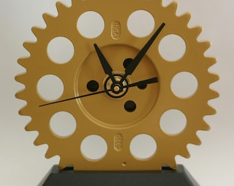 ON SALE - Engine Timing Gear Desk Clock - Chevy - Gold