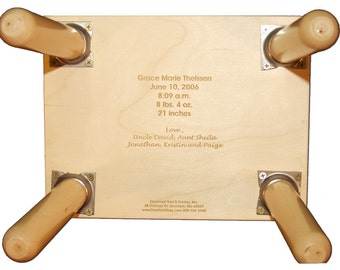 Engraved Message ONLY for Name Puzzle Stool