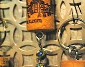 Wine Cork Keychain w/beads