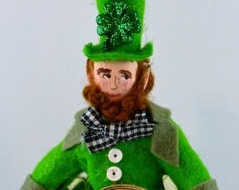 Irish Leprechaun Doll Miniature Art Collectible