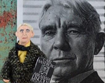Author Doll Carl Sandburg Art Miniature Writer Classic Literature