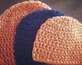 Basic Crochet Hat Beanie PATTERN (sizes preemie through adult)
