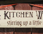 Halloween Witch Kitchen Sign