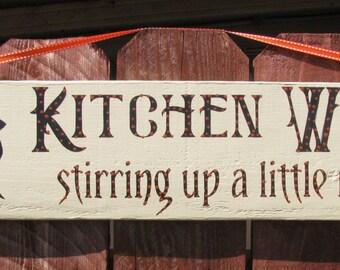 Halloween Witch Kitchen Sign