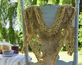 Lace Shawl Knitting Pattern Charted Directions Instant PDF Download Easy Quick to Knit Pattern Gift Idea