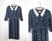 SALE Black & White Splatter Print Rayon Dress