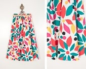 Tropical Print Circle Skirt