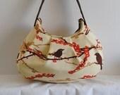 Pleated Bag // Shoulder Purse - Sparrows in Bark