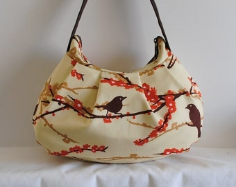 Pleated Bag // Shoulder Purse - Sparrows in Bark