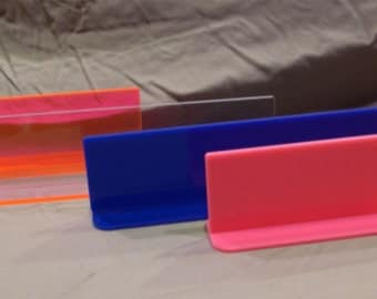 Blank Acrylic Desk Name Plates - Lot of 5 Great for vinyl applications