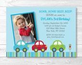 Car Birthday Invitation /...
