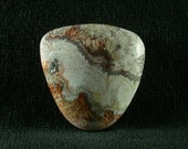 Crazy Lace Agate with Sagenite Cabochon from Mexico 26x27x6mm