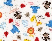 LIL ZOO ANIMALs, Cotton Interlock Knit Fabric, 44 inches