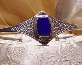 Vintage Sterling Tribal Bracelet