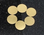 "3/4"" Brass Disc 24 Gauge  Pack of 6"