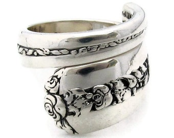Spoon Ring Size 6-12 Rambler Rose Sterling Silver Towle