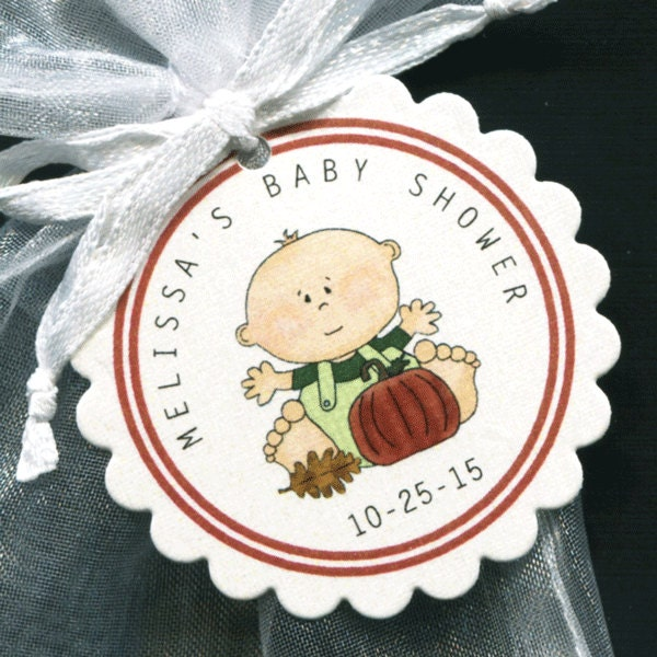 halloween themed personalized baby shower favor tags baby boy