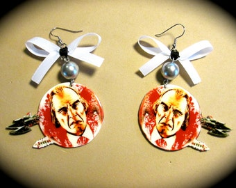 Phantasm Tall Man Sphere Dangle Earrings