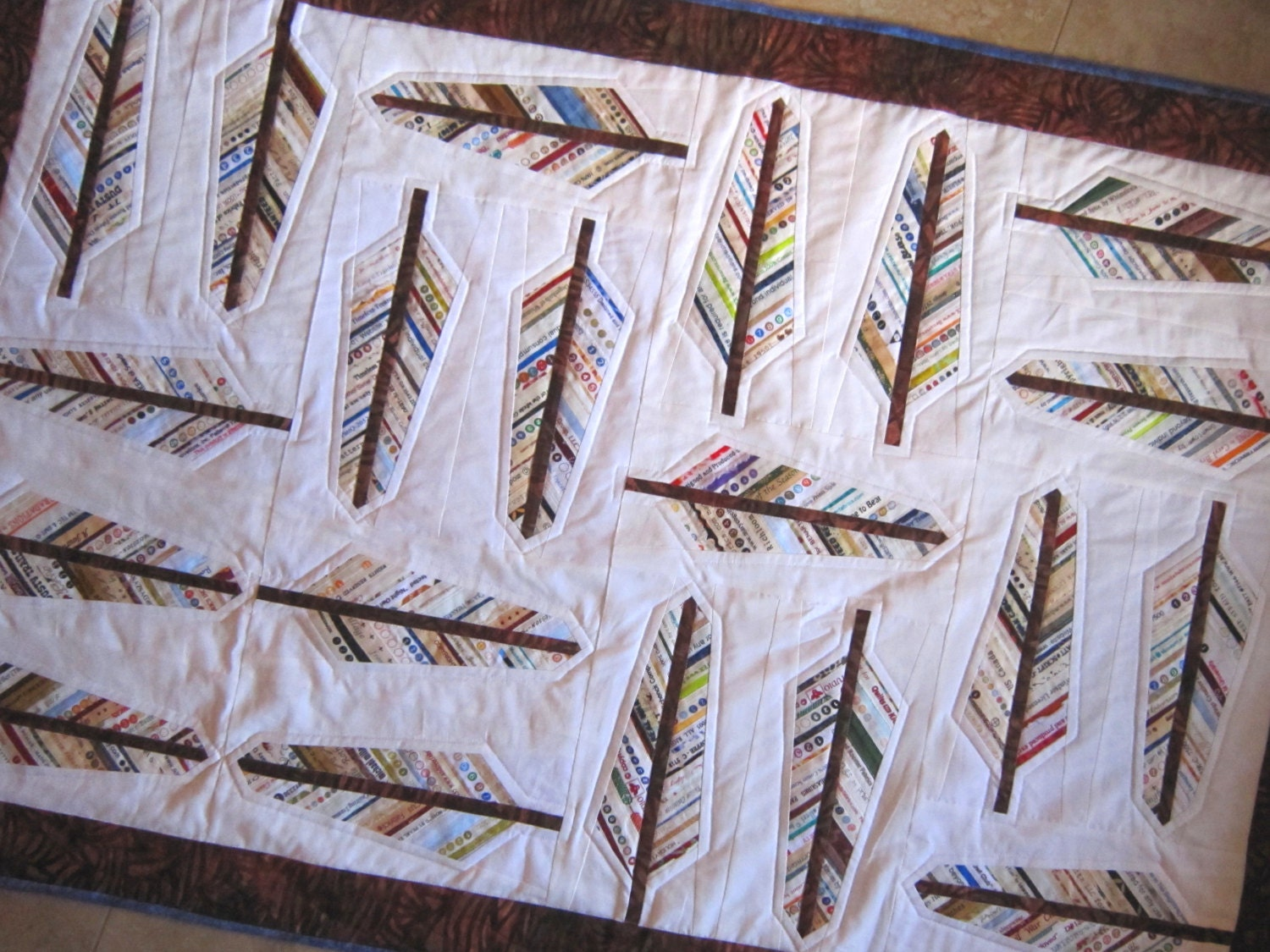 AUDUBON Selvage Feather Quilt Pattern from Quilts by Elena