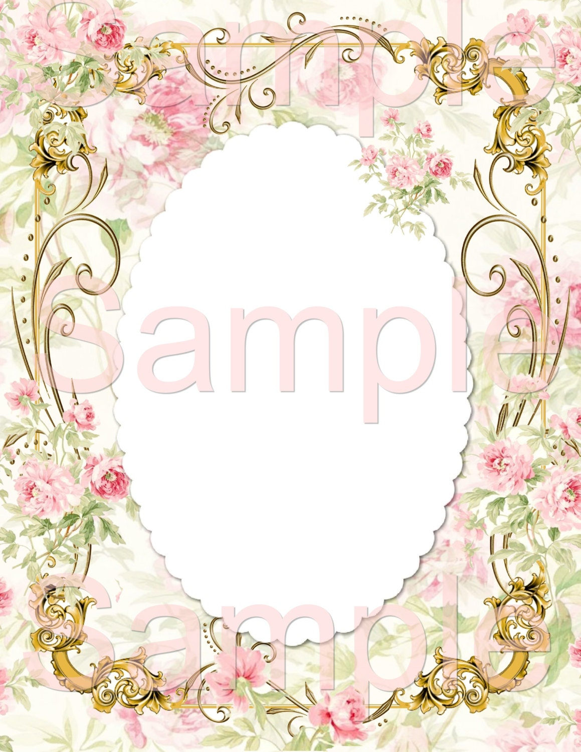 Gorgeous Background Fancy Frame 2 Add you Own Text