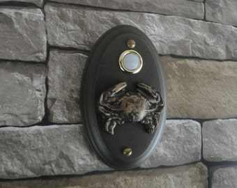 Nautical Sea Crab Lighted Doorbell Oil Rubbed Bronze