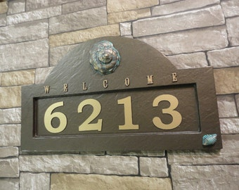 Items similar to flames address plaque house number sign for Location plaque garage