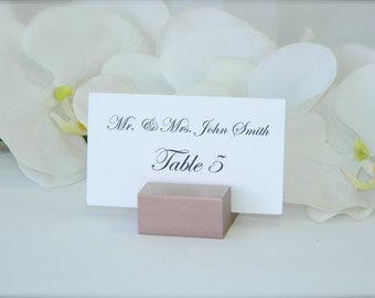 Place Card Holder + Rose Gold Wedding Place Card Holders - Set of 145