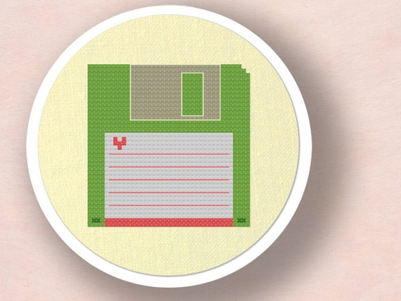 Floppy Disk. Cross Stitch PDF Pattern Instant Download