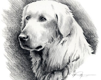 AKBASH Dog Art Print Signed by Artist DJ Rogers