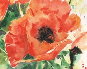 SALE, POPPY Painting, original poppy painting, poppies, SALE