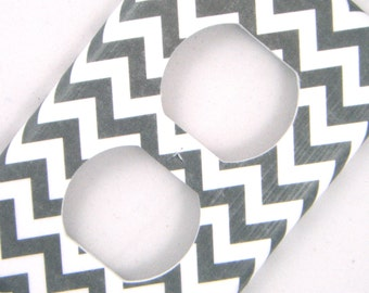 Grey Chevron Outlet Cover