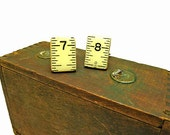 Repurposed Luftkin Wood Masons Ruler Cuff Links