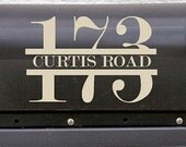 Custom Outdoor Mailbox Vinyl Decal with Street Address and Numbers, One 5.5X5.5 decal, Personalized mailbox stickers, Housewaming gifts