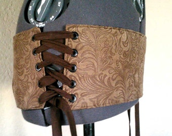 Tribal Fusion - Moleskin Corset Belt Base - DIY